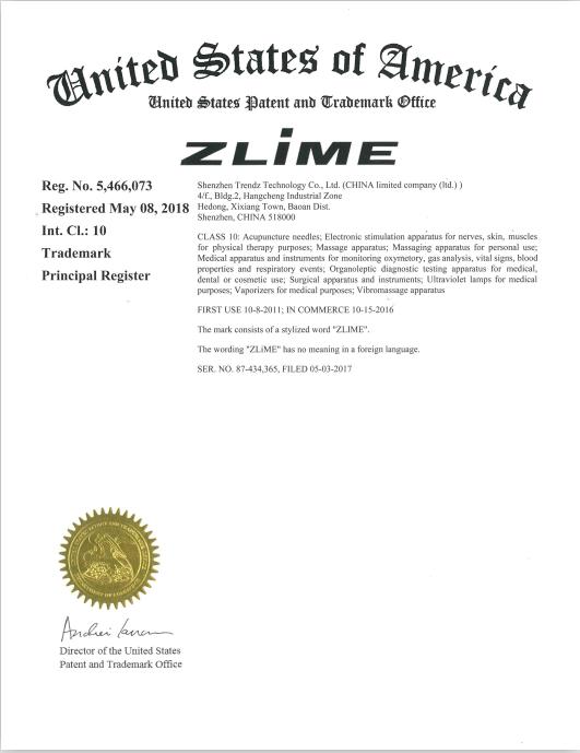 美国ZLIME商标
